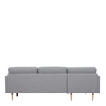 Larvik Grey Chaise End Left Hand Sofa with Oak Legs