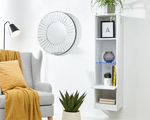 Galicia White Wall Mounted Tall Shelving Unit