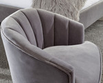 Pettine Grey Velvet Chair