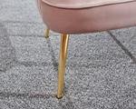 Pettine Pink Velvet Chair