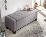 Verona Grey Fabric Ottoman Bench