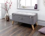 Minstrel Grey Fabric Ottoman Storage Bench