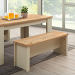 Lisbon Dining Table 120cm with 2 Benches & 2 Stools
