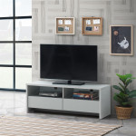 Essentials Light Grey TV Cabinet with 2 Drawers