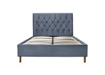 Loxley Grey Fabric Bed