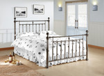 Alexander Metal Bed in Black Nickel
