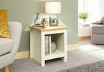Lancaster Cream Side Table with Shelf