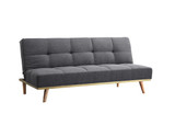 Snug Charcoal Grey Sofa Bed