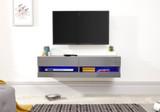 Galicia Grey Wall Mounted TV Unit 120cm