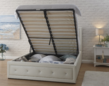 Hollywood White Ottoman Bed