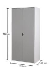 Alton Grey & White 2 Door Wardrobe