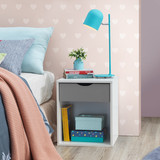 Alton Grey & White 1 Drawer Bedside Chest