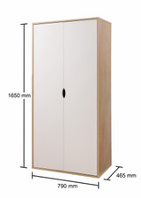 Alton Oak & White 2 Door Wardrobe