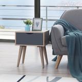 Alford Sonoma Oak & Grey Lamp Table
