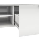 Match White High Gloss 2 Drawer TV Unit