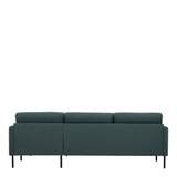 Larvik Dark Green Chaise End Right Hand Sofa with Black Legs