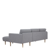 Larvik Grey Chaise End Right Hand Sofa with Oak Legs