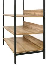 Zahra Small Open Wardrobe with 4 Shelves in Oak