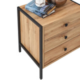 Zahra Nightstand with 3 Drawers in Oak