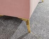 Pettine Pink Velvet Ottoman Storage Bench