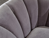 Pettine Grey Velvet Chair