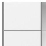 Verona White Sliding Wardrobe with Mirror Door