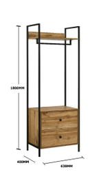 Zahra 3 Piece Bedroom Furniture Set in Oak