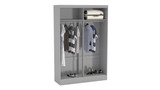 Lynx Grey 2 Door Sliding Wardrobe with Mirror