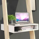 Oslo White and Oak Leaning Desk