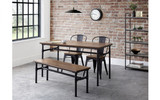 Carnegie Dining Table, Bench and 2 Grafton Chairs