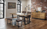 Brooklyn Dining Set, Bench and 2 Chairs