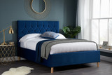 Loxley Blue Fabric Bed
