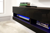 Galicia Black Wall Mounted TV Unit 120cm