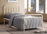Miami Ivory Metal Bed