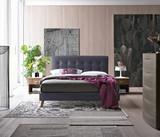 Novara Bed in Charcoal Grey