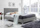 Brooklyn Bed in Grey Fabric