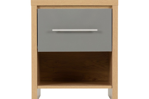 Seville Grey 1 Drawer Bedside Cabinet