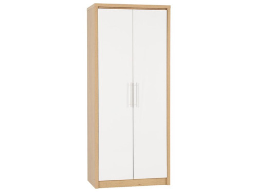 Seville White 2 Door Wardrobe