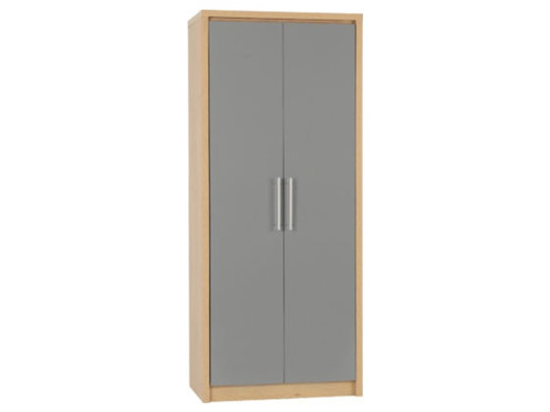 Seville Grey 2 Door Wardrobe