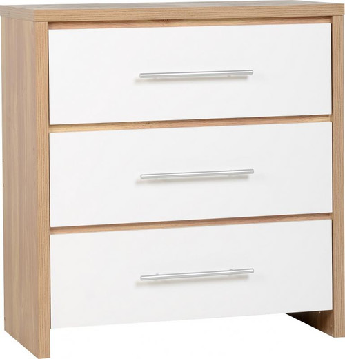 Seville White 3 Drawer Chest