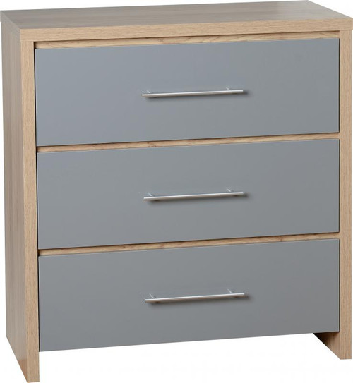 Seville Grey 3 Drawer Chest