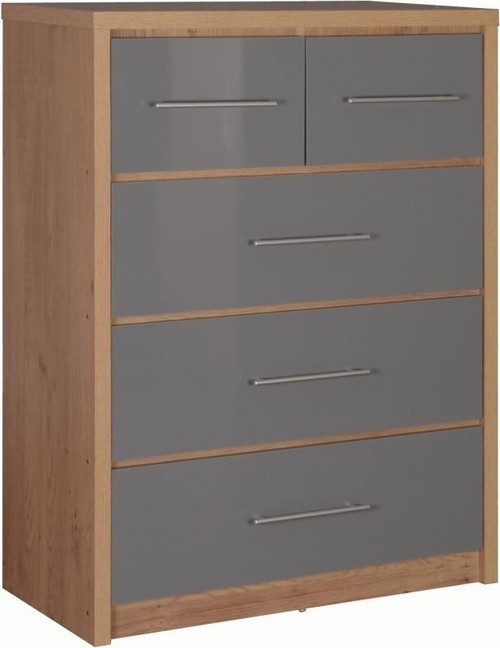 Seville Grey 3+2 Drawer Chest