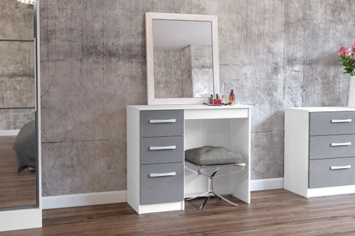 Lynx White & Grey 3 Drawer Dressing Table
