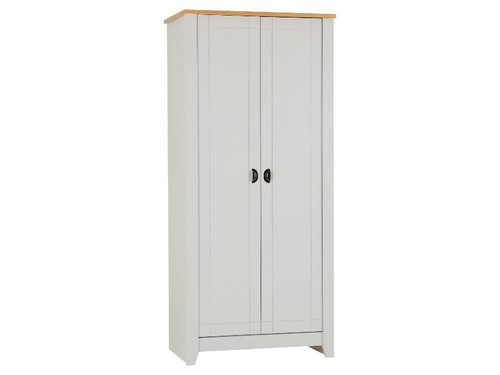 Ludlow Grey 2 Door Wardrobe
