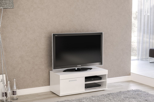 Edgeware White Small TV Unit