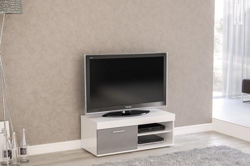 Edgeware White & Grey Small TV Unit