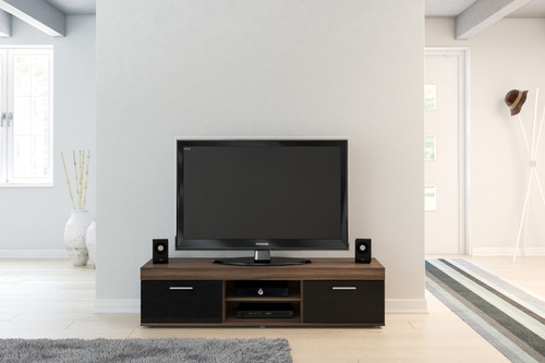 Edgeware Walnut & Black TV Unit