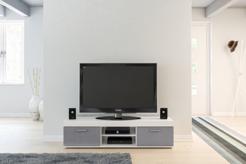 Edgeware White & Grey TV Unit