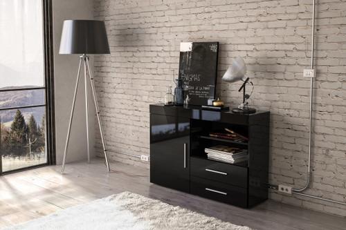 Edgeware Black 1+2 Sideboard