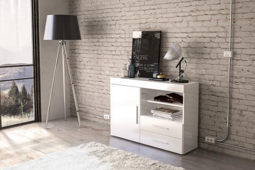 Edgeware White 1+2 Sideboard